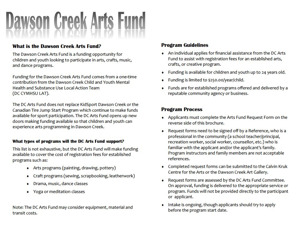 arts-fund-pdf - Dawson Creek Literacy Society